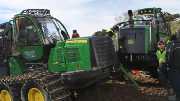 Logging machinery attract students